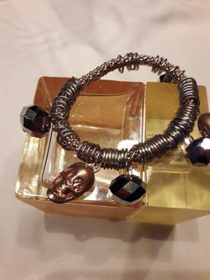 Braccialetto sottile oro-argento