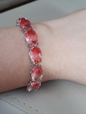 Armband mit Turmalin , mit Silber überzogen