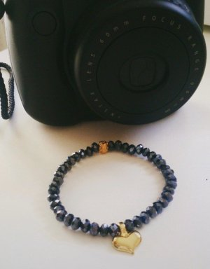 Armband mit vergoldetem Herz