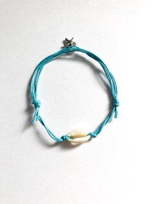 Armband Muschel & Seestern blau