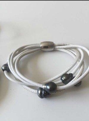 Armband Nappaleder mit Zuchtperlen von Rohm