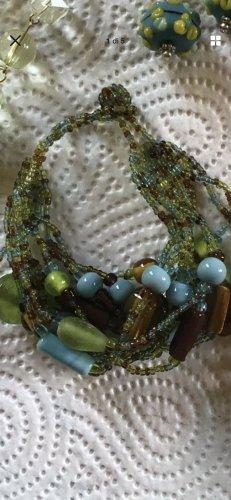 Bracelet vert-bleu