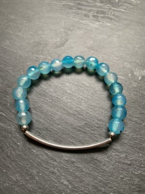 Pearl Bracelet light blue-silver-colored