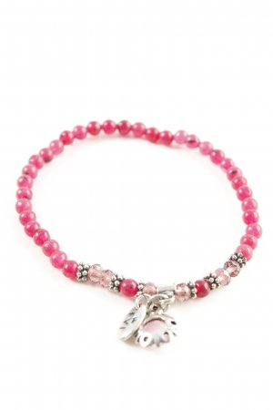 Armband roze-zilver casual uitstraling