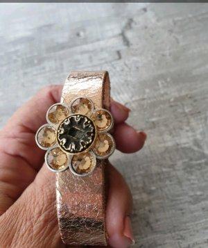 Armband rosegold mit 3 Steinen