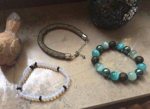 Brazalete de perlas multicolor vidrio