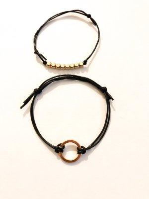 Bracelet noir-doré