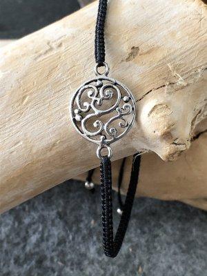 Handmade Braccialetto in argento nero-argento
