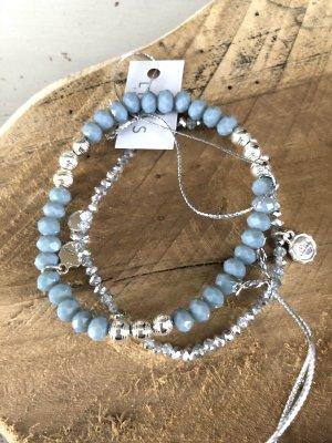 Lizas Bracelet argenté-bleu azur