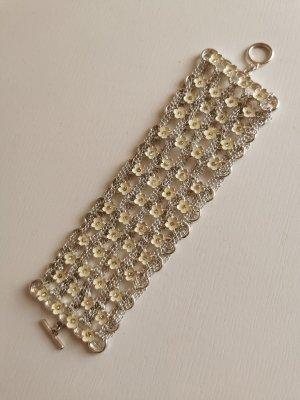 Armband Silberfarben mit Blumen