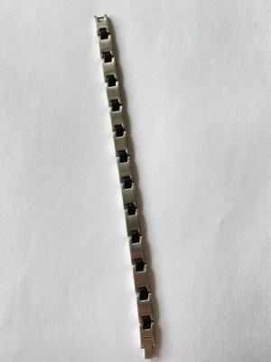 Armband silberfarben-schwarz