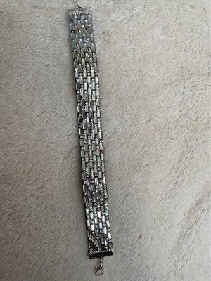 Armband Strasssteinen silbern flexibel