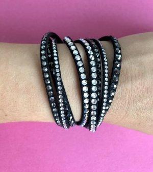 Swarovski Bracelet noir-argenté