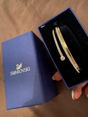 Armband Swarovski Gold Glitzer weiß Silver