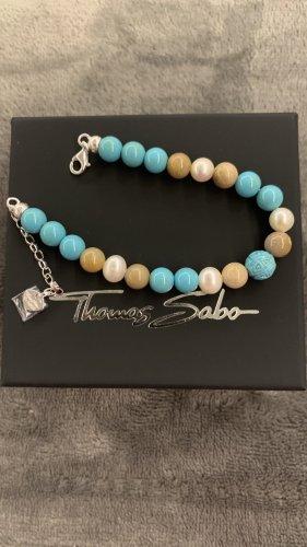 Thomas Sabo Pulsera azul claro