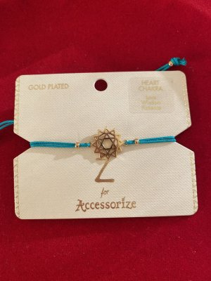 Accessorize Bracelet turquoise-gold-colored