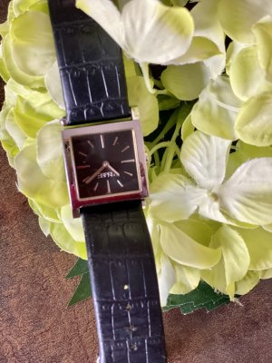 Esprit Watch With Leather Strap black