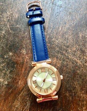 Zegarek automatyczny niebieski