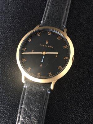 Lilienthal Berlin Zegarek ze skórzanym paskiem złoto-czarny Skóra