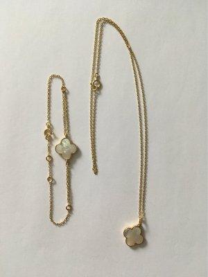 Armband und Halskette Gold