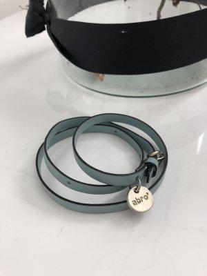 abro Lederen armband lichtblauw