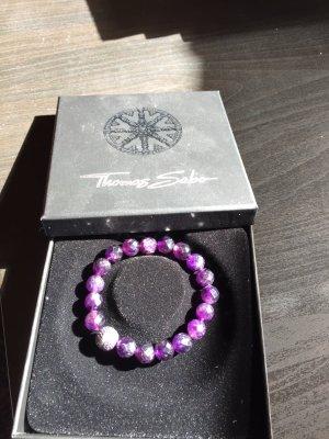 Thomas Sabo Braccialetto sottile viola scuro