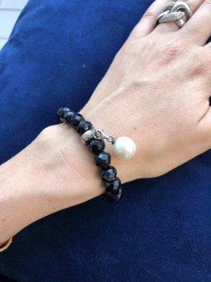 Thomas Sabo Bracelet en perles noir-blanc