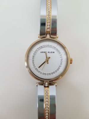 Anne Klein Watch With Metal Strap silver-colored-gold-colored
