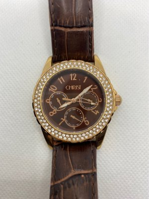 Christ Watch With Leather Strap brown