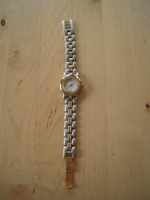 Yves Rocher Horloge met metalen riempje zilver-goud Metaal