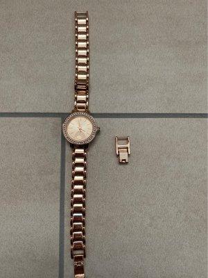 Primark Zegarek z metalowym paskiem złotopomarańczowy