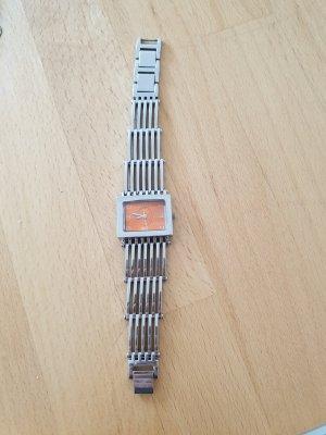 Zegarek analogowy srebrny