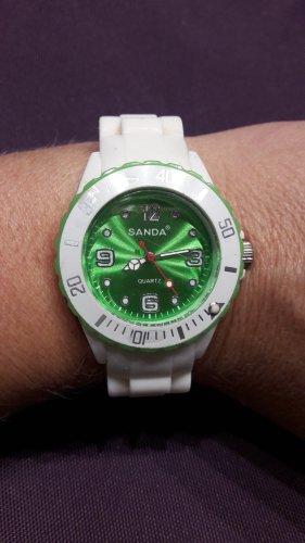 keine Reloj analógico blanco-verde pradera