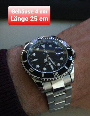 SmD Montre avec bracelet métallique noir-argenté