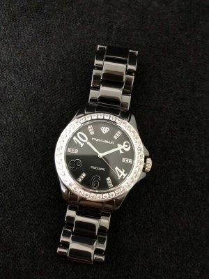 Yves Camani Reloj analógico negro-color plata