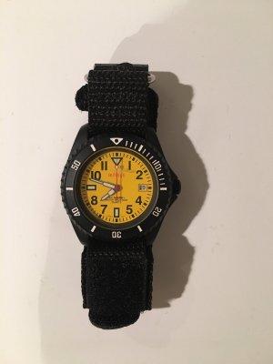 Armbanduhr Autohifi Schwarz Gelb