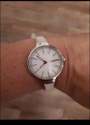 Hoops Reloj analógico blanco-color plata