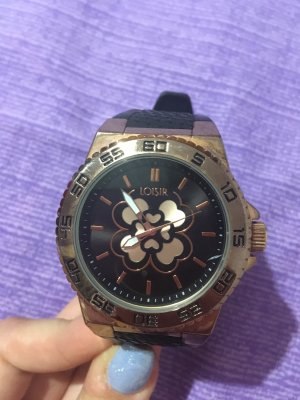 Analog Watch black-gold-colored