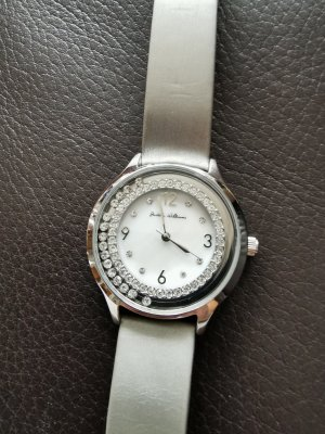 Judith Williams Watch With Leather Strap silver-colored