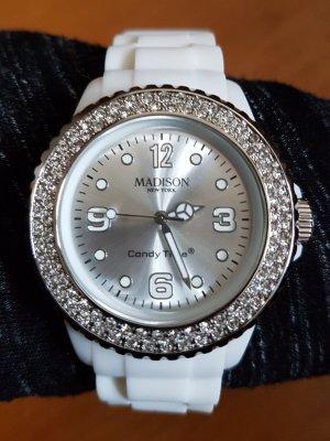 Armbanduhr Damen Madison NY Candy Time weiß