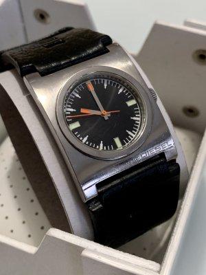 Armbanduhr Diesel Analog Edel stahl Leder schwarz OVP wasserdicht bis 100m