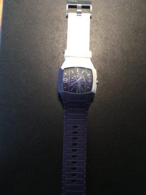 Diesel Montre analogue blanc-violet matériel synthétique