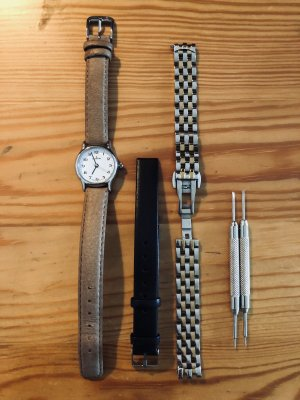 Armbanduhr Dugena inclusive 2 Wechselarmbänder