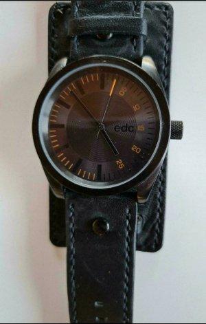 edc by Esprit Reloj con pulsera de cuero negro-marrón claro