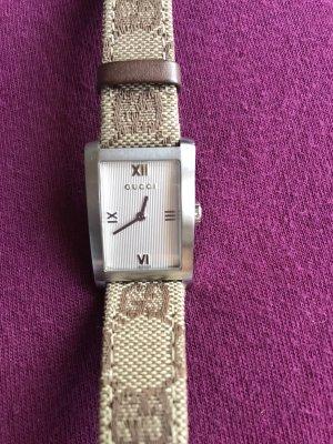 Gucci Horloge met lederen riempje bruin