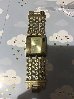 Guess Horloge met metalen riempje goud Oranje