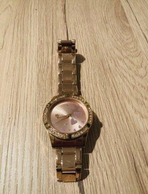 Orologio analogico rosa pallido-color oro rosa