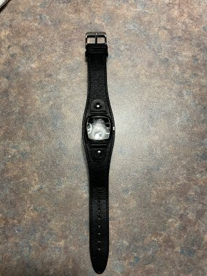 s.Oliver Watch With Leather Strap black