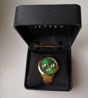 Armbanduhr Jette Joop gold / grün
