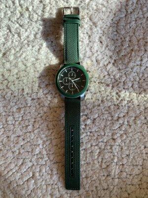 Lacoste Reloj con pulsera de cuero verde bosque